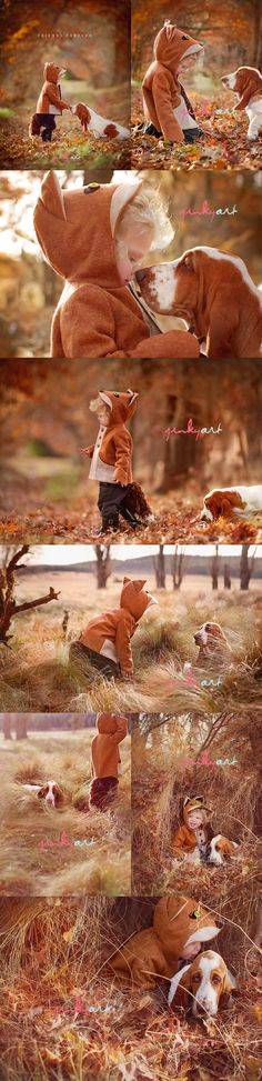 "I had a basset hound as a kid, why didn't anyone think of doing these adorable ""the fox and the hound"" photos. That's it, i'm getting another basset hound! Children Photography, Animal Photography, Family Photography, Funny Photography, Photography Ideas, Portrait Photography, Sweets Photography, Creative Photography, Foto Fun"