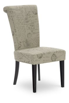 Napolean Script Linen dining chair  sc 1 st  Pinterest & Christopher Knight Home French Script Fabric Dining Chairs (Set of 2 ...