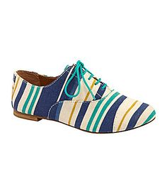 GB Gianni Bini Tom-Boy Oxfords---- I want striped shoes! Striped Shoes, Gianni Bini, Walk On, Tomboy, Dillards, Oxford Shoes, Hair Beauty, Oxfords, My Style