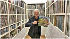 Jimmy Page with his music collection