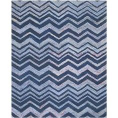 Shop for Safavieh Handmade Nantucket Abstract Chevron Blue/ Multi Cotton Rug (9' x 12'). Get free shipping at Overstock.com - Your Online Home Decor Outlet Store! Get 5% in rewards with Club O! - 16336076