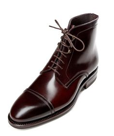 burgundy shell cordovan boots - I'd most DEFINITELY wear the hell out of this shoe...