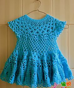 Free Crochet Patterns: Free Crochet Patterns: Baby Dress II - Everything For Babies Crochet Dress Girl, Baby Girl Crochet, Crochet Baby Clothes, Crochet Dresses, Crochet Woman, Baby Dress Pattern Free, Baby Dress Patterns, Crochet Patterns, Free Pattern