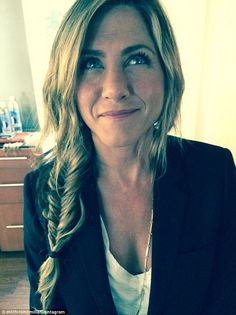 Fishtail: Jennifer Aniston showed off her perfectly messy new side braid  in an image posted by hairdresser Chris McMillan on Instagram
