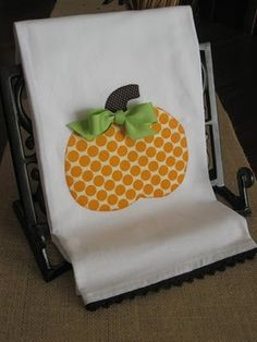 These pumpkin dish towels would make a great hostess gift.