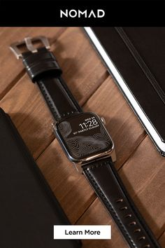 Our leather Apple Watch straps are custom designed to give your Apple Watch a unique look while providing the ultimate in utility and durability. Choose from a variety of styles and colors in both dress Apple Watch straps and sports Apple Watch straps. G Shock Watches Mens, Rolex Watches For Men, Cool Watches, Men's Watches, Luxury Watches, Tissot Mens Watch, Apple Watch Bands, Leather Accessories, Fashion Accessories