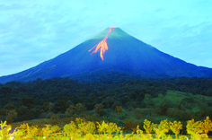 Prepare for the powerful sight of the Arenal volcano — the dramatic backdrop to the Hotel Arenal Manoa in La Fortuna where you'll stay on an Adventures by Disney vacation to Costa Rica