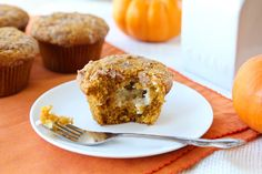 Pumpkin Muffins with Cinnamon Cream Cheese Filling Recipe on Yummly. @yummly #recipe