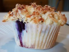 Candace Creations: Gluten Free Blueberry Lemon Muffins with Coconut Streusel
