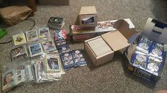 awesome Lot of baseball and football cards NFL Fleet Robinson rookie Fleet - For Sale