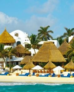 Dreamy Riviera Maya escape with beach beds made for two, a spa, two restaurants and views across the bay
