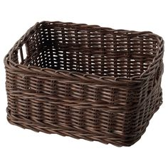 IKEA - GABBIG, Basket, Practical storage for paper, pens, and other small things.You can also use the basket in damp areas such as the bathroom.The basket is hand woven and therefore has a unique look.Easy to pull out and lift as the box has handles.