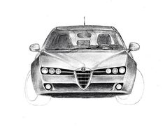 Pencil drawing not yet finished Alfa-Romeo Pencil Drawings, My Drawings, Alfa Romeo, Vans, Sketches, Posters, Concept, Classic, Prints