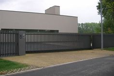 Errera - D-fence Driveway Gate, Fence Gate, Fence Panels, Law Office Decor, Boundary Walls, Front Fence, Fence Design, Tropical Garden, Entry Doors