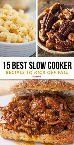 15 Best Slow Cooker Recipes For Fall – Skinny Ms. 15 Best Slow Cooker Recipes For Fall Slow cooker meals are often known for being warm and hearty. This list includes the 15 best slow cooker recipes to kick off fall. Best Slow Cooker, Slow Cooker Recipes, Crockpot Recipes, Cooking Recipes, Crockpot Dishes, Barbecue Recipes, Oven Recipes, Cream Recipes, Pork Recipes