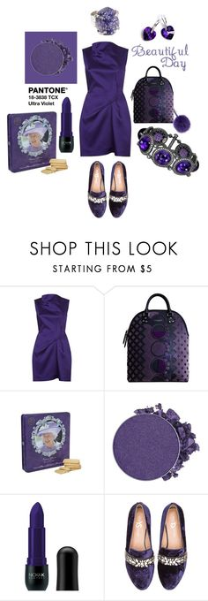 """ULTRAVIOLET"" by michelle858 ❤ liked on Polyvore featuring Roland Mouret, Fendi, Burberry, Walkers, Anastasia Beverly Hills, Nicka K, Yosi Samra, Alex Soldier and ultraviolet"