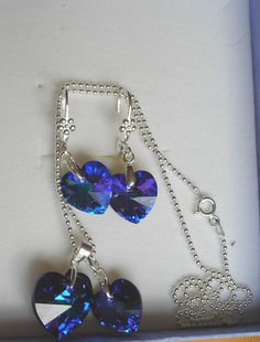 Swarovski  Bermuda Pendant by JewelleryInspired4U on Etsy free shipping in October please see my announcement page.