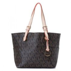 Michael Kors Jet Set MK Logo-print Signature Tote Brown-02