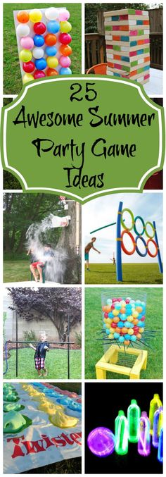 25 Best Backyard Birthday Bash Games - Pretty My Party Looking for fun games to play for your backyard party? Make any party a blast with 25 Best Backyard Birthday Bash Games! These outdoor games will be a hit! Summer Party Games, Backyard Party Games, Backyard Birthday, Summer Parties, Summer Kids, Outdoor Birthday Games, Backyard Ideas, Kids Fun, Kids Boys