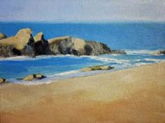 Happy Beach Acrylic on Canvas Panel 11 x 14 in/27.9 x 35.6 cm