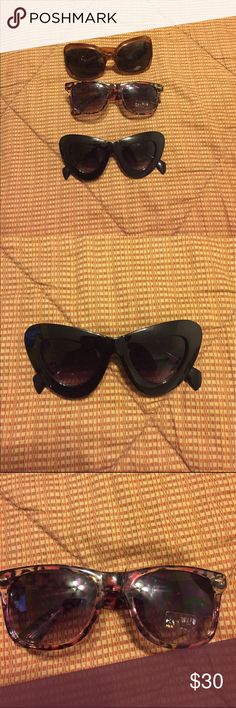CoolShades😎😎Sunglasses UV400 BrandNew and GreatCondition Sunglasses all 3 pair bundled @ $30 Accessories Sunglasses