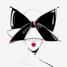 illustrations by Katerina Murysina Megan Hess, Drawing Clothes, Face Art, Pretty Face, Painting Prints, Cat Eye Sunglasses, My Arts, Clip Art, Bows