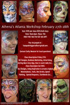 Atlanta Face Painting Classes February