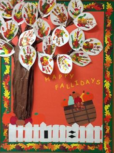 Halloween Bulletin Boards, Fall Bulletin Boards, Preschool Bulletin Boards, Fall Boards, November Bulletin Boards, Infant Bulletin Board, Fall Preschool, Preschool Crafts, Preschool Colors