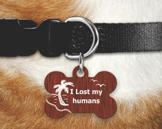 I Lost My Humans Pet Tag, Funny Pet Tag, Dog Tags For Dogs, Double Sided Pet Tag, Unique Pet Id Tag, Personalized Dog Tag, Funny Dog Tags by MysticCustomDesignCo on Etsy