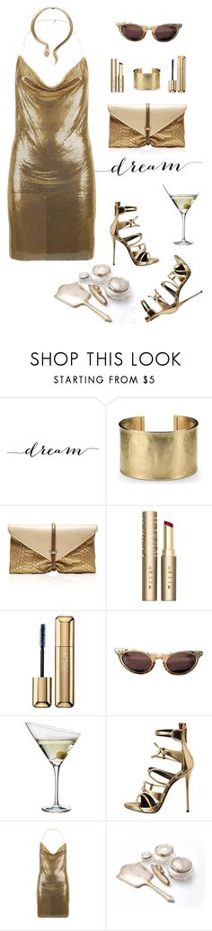 """""""Dream Girl"""" by ms-wednesday-addams ❤ liked on Polyvore featuring WALL, Blue Nile, VBH, Stila, Guerlain, Eva Solo, Giuseppe Zanotti, Balmain, outfit and fashionset"""