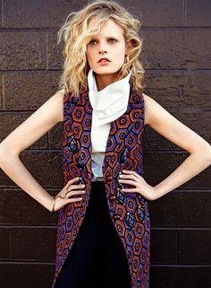 Hanne Gaby Odiele, S Modas, Oct 2012 || Photo: Kai Z Feng