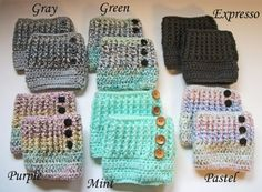Crochet Boot Cuffs by SiennaSews on Etsy $10 Free Shipping! 10% off with coupon code JAN2015