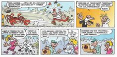 """Francisco Ibáñez: Viñetas de """"La Calle del Palo"""", historieta incluida en el álbum """"Ceporros en Pleno Idilio"""" (Olé Ediciones B) y en el Super-Humor nº 23 (1º Edición 1995 - 6º Edición 2004)"""