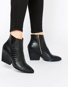 London Rebel Point Heeled Ankle Boots