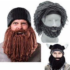 Mens womens knit beanie #crochet hat #scientist wig mustache #beret cap beard mas,  View more on the LINK: http://www.zeppy.io/product/gb/2/162014784335/