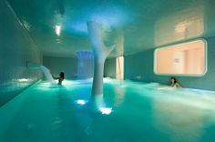 wellness center in exedra nice hotel located in nice, france by simone micheli