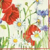 0814 Servilleta decorada flores