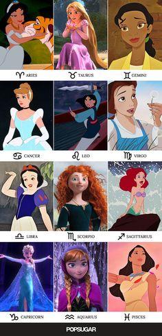 Disney Princesses and the Zodiac signs they represent. Disney Princesses and the Zodiac signs they represent. Zodiac Sign Traits, Zodiac Signs Astrology, Zodiac Star Signs, Zodiac Horoscope, My Zodiac Sign, Pisces, Virgo Facts, Sagittarius Funny, Zodiac Signs Animals