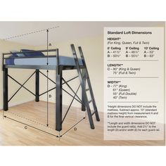 Francis Lofts RPF Aluminum Loft Bed for students living in dorm rooms or apartments at college or boarding school, on campus or off.