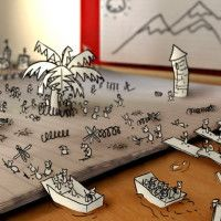 WATCh-Incredible Stop-Motion Animation, Paper War!
