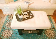 how to make an upholstered tufted ottoman
