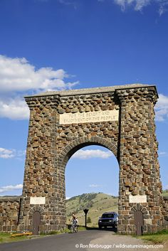 Roosevelt Arch at the North Entrance to Yellowstone National Park