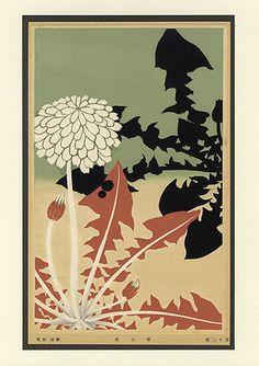 Meiji Era Botanical Woodblock Prints c1900