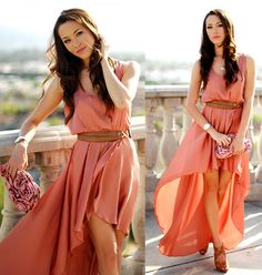 LOVE Peach Asymmetrical Maxi Dress, which you can get here: http://inlovewithfashion.com/products/LOVE-Peach-Asymmetrical-Maxi-Dress.html
