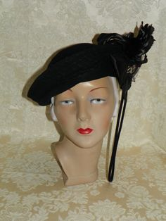 277c41c98cfe3 19301940 s Women s Merrimac Hat by flappergirlvintage on Etsy