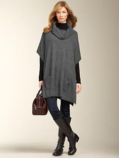 Talbots - Cashmere Poncho | Sweaters | Apparel $186