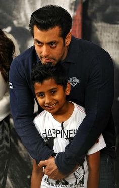 #Salmankhan in Being Human Clothing with child #BHC