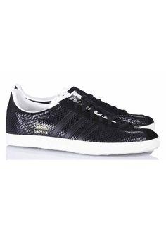Baskets Gazelle Cuir Noir Adidas pour femme sur Place des tendances Groupe Printemps. Retrouvez toute la collection Adidas pour femme.