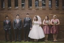 Bridal party giggles