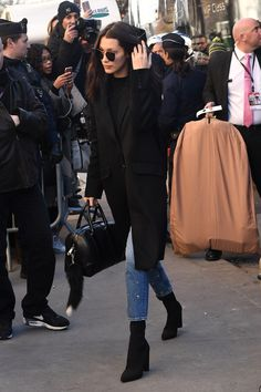 """bel-hadid: """"""""Bella Hadid arriving at the Grand Palais for the Victoria's Secret Fashion Show """" """""""